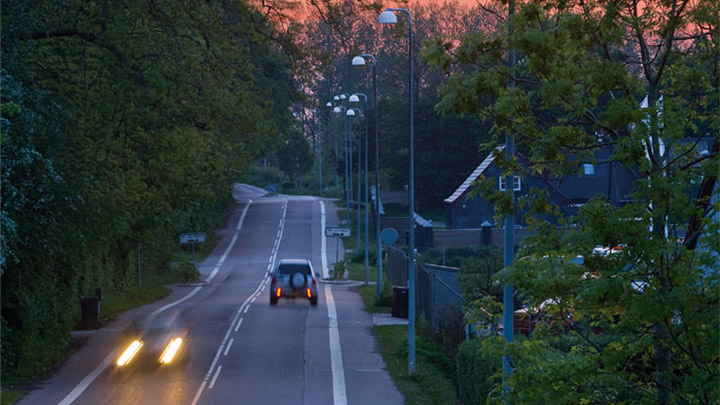 Strada di Holbaek illuminata da Philips Lighting