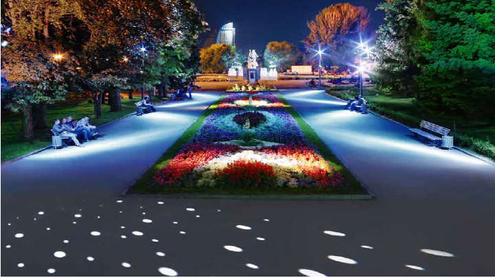 Un parco illuminato con eleganza da Philips Lighting