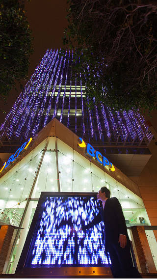 L'edificio BCP illuminato da Philips Lighting