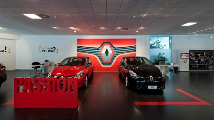 partner philips lighting renault showroom